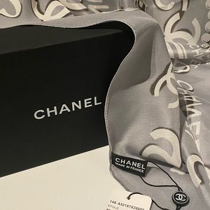 Chanel Large Silk Stole Scarf